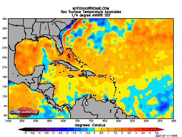 Sea Surface Temp-Anom - Caribbean