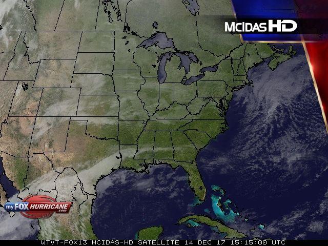 Eastern U.S. Satellite View - Exclusive McIDAS HD