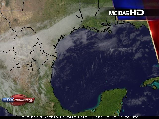 W. Gulf of Mexico Satellite View - Exclusive McIDAS HD