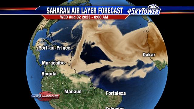Saharan Air Layer Forecast - Atlantic   Hurricane and Tropical ...