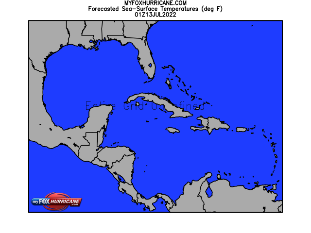 Caribbean View Forecasted Sea-Surface Temperatures