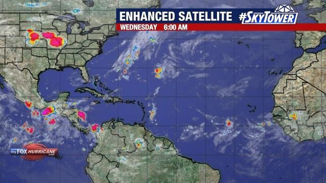 Enhanced Atlantic Satellite View