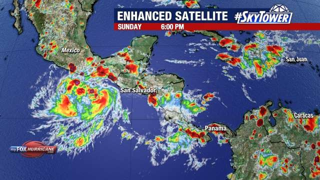 Hurricane Jay Enhanced Satellite View
